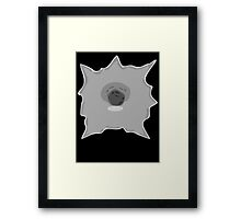 Bullet Hole 1 by Chillee Wilson Framed Print