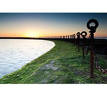 Golden Sunrise, Ocean Chains Newcastle Beach Photographic Print