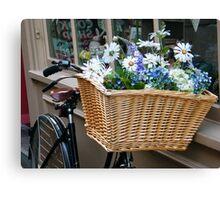 Basket Blooms Canvas Print