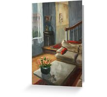 Red Pillows Greeting Card
