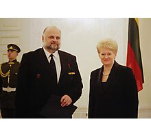 Me & President of Lithuania in March 11 - independence day Photographic Print