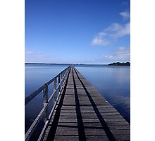 Jetty on the Lake Photographic Print