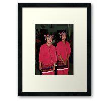Shan girl dancers Framed Print