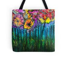 Flowers That Only  Fireflies See - Kerry Beazley Tote Bag