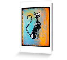 Skeleton Cat  Greeting Card