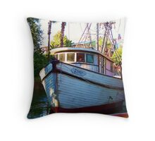""""""" I'd never named a boat before, but there was only one I could think of... The most beautiful name in the whole wide world. """" Throw Pillow"""