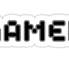 Retro Gamer by Chillee Wilson Sticker