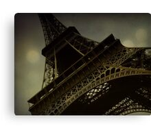 Vintage romantic Eiffel Tower Canvas Print