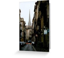 Backstreets of Bordeaux Greeting Card
