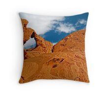 Valley of Fire, Nevada, Postcard Throw Pillow