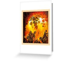 forest flash fire... ancient times Greeting Card