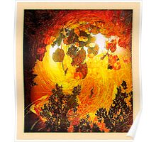 forest flash fire... ancient times Poster