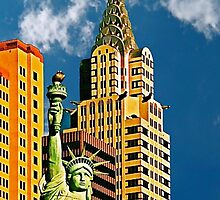 New York, New York Hotel, Las Vegas Postcard by trevortrent