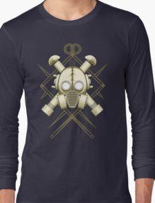 Tribal retro gasmask Long Sleeve T-Shirt