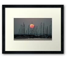 St Kilda Marina Sunset Framed Print