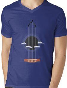 Sky Guitar Mens V-Neck T-Shirt