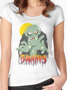 Zombie BRAINS Women's Fitted Scoop T-Shirt