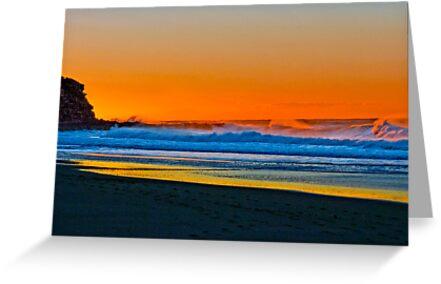 Sunrise at Garie Beach - Sydney Royal National Park, NSW, Australia by Mark Richards