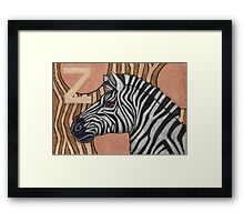 Z is for Zebra Framed Print