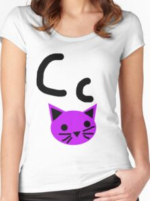 Cc for Cat Women's Fitted Scoop T-Shirt
