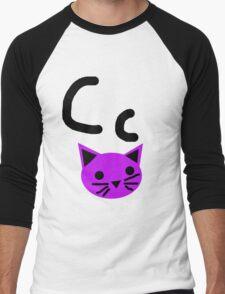 Cc for Cat Men's Baseball ¾ T-Shirt