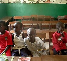 Gambian school kids by elisabeth tainsh