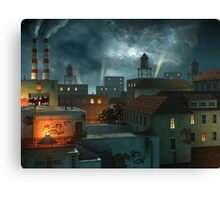 Zone Industrielle - Night Canvas Print