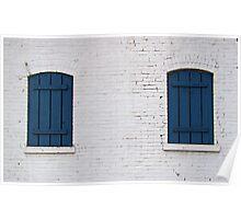 Brick & Blue Poster
