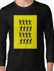 March of the Zombie TV Guys by Chillee Wilson Long Sleeve T-Shirt