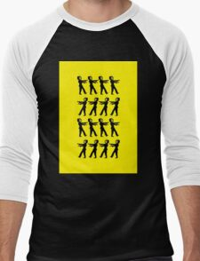 March of the Zombie TV Guys by Chillee Wilson Men's Baseball ¾ T-Shirt