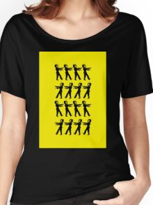 March of the Zombie TV Guys by Chillee Wilson Women's Relaxed Fit T-Shirt