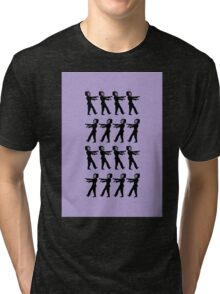 March of the Zombie TV Guys by Chillee Wilson Tri-blend T-Shirt