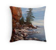 Shoreline near Thunder Bay Ontario Canada  Throw Pillow