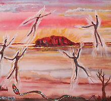 Uluru and Ancestor Spirits  by eoconnor