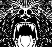 Totem Pole. Grizzly Bear Sticker