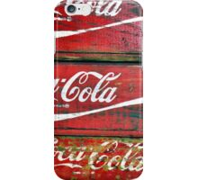 Red Wooden Crates iPhone Case/Skin