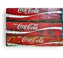 Red Wooden Crates Canvas Print