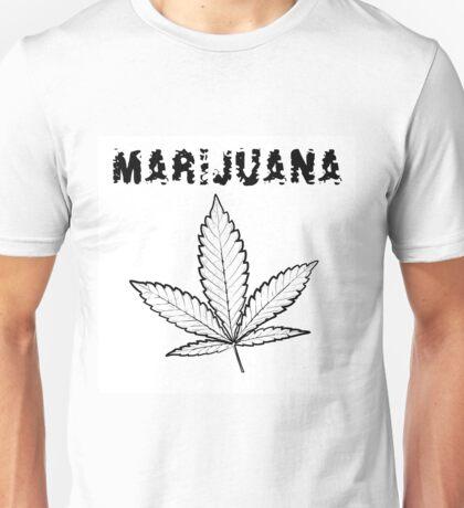 X-Rays. Cannabis Leaf and word Marijuana Unisex T-Shirt