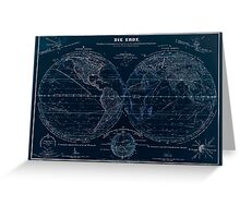 Atlas zu Alex V Humbolt's Cosmos 1851 0143 Die Erde The Earth Inverted Greeting Card