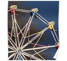 carnival ride in unpredictable weather Poster