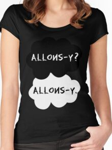 allons-y? allons-y. Women's Fitted Scoop T-Shirt