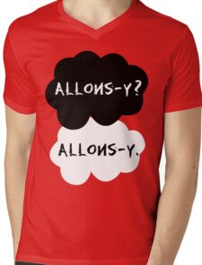 allons-y? allons-y. Mens V-Neck T-Shirt