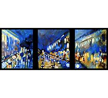 Rainy Day in Paris Triptych Photographic Print