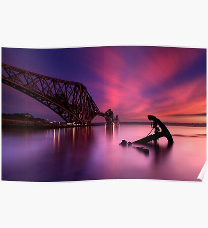 Forth Rail Bridge Sunset Poster