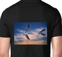 Black-Headed Gulls at Sunset Unisex T-Shirt