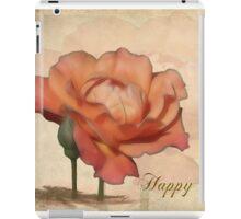 Peach Rose Birthday Card iPad Case/Skin