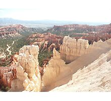 White Sandstone and Orange Rock Formations in Bryce Canyon, Utah. U.S.A. Photographic Print