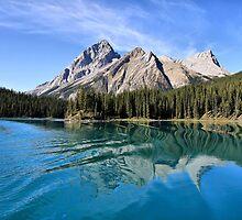 Broken Reflection on Maligne Lake by Teresa Zieba