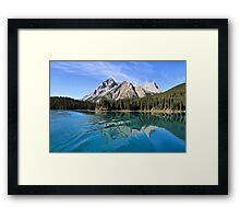 Broken Reflection on Maligne Lake Framed Print