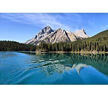 Broken Reflection on Maligne Lake Photographic Print